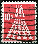 USA _ CIRCA 1968: A stamp printed in USA shows the 50_Star Runway