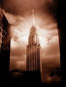 Chrysler Building Against a Cloudy Sky