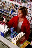 Woman shopping in a pharmacy