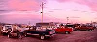 America, USA, United States, Colorado Plateau, Utah, Loa, cars, truck, pick up, backyard, parking, rural, America,