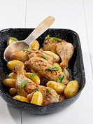 Braised chicken legs with potatoes