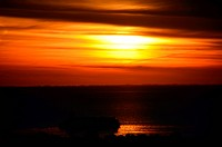 Sunrise at Rio de la Plata, Buenos Aires, Argentina