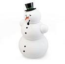 3d snowman with hat