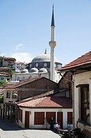 asia, turkey, central anatolia, ancient town of safranbolu, view with izzet pasa camii