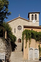 Church, Vog&#252;&#233;, Rhone-Alpes, Ardeche, France, Les Beaux Village de France