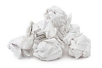 Heap of crumpled paper