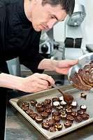 chef makes sweets