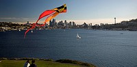 Lake Union with Kite and Space Needle, Seattle, Washington