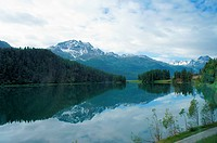 Mountain lake in Engadine