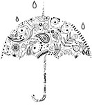 Various plants patterns in umbrella (thumbnail)