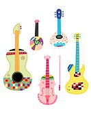 various kinds of Stringed instruments