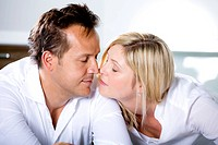 Germany, Mid adult couple touching nose (thumbnail)