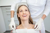 Germany, Patient and dentist in dental office
