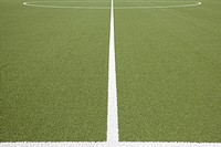 Germany, North Rhine Westphalia, Neuss, Painted line on soccer field