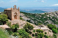 Famous Sant Joan Hermitage in Spanish mountains cl