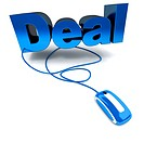 Online deal in blue