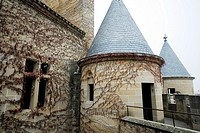 Detail of the palace of Carlos III in Olite, Navarra, Spain
