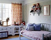 Child´s bedroom and play area in a home