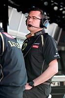 Eric Boullier FRA, Team Principal, Lotus Renault GP, F1 Team ,F1,Testing Barcelona, Spain ,Barcelona .