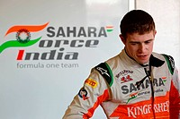 Paul di Resta GBR, Sahara Force India Formula One Team ,F1,Testing Barcelona, Spain ,Barcelona .