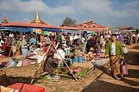 Myanmar, Burma  Local ´Five-Day´ Market, Inle Lake, Shan State