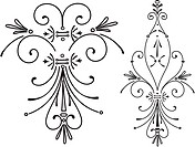 Black and white decorative elements