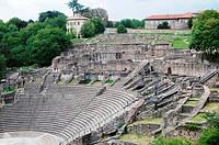 Ancient Theatre of Fourvière in Lyon city, France