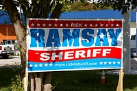 political advertisement for rick ramsey sheriff florida keys usa