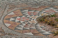 A view of the mosaics of the city of Athens.