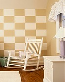 Nursery with Checkerboard Wall