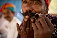 Managaniyar, a musician community performing at a village near Udaipur, India.