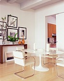 Dining Area with Oval Pedestal Table