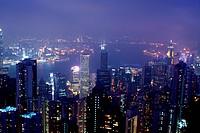 Hong Kong skyline by night