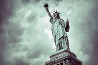 Vintage toned image of the Statue of Liberty