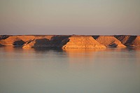 Nasser lake in Abu Simbel, Egypt