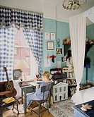 Girl Writing at Desk in her Room