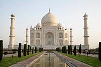 Taj Mahal and reflection.