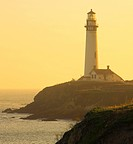 Pigeon Point lighthouse, Santa Cruz coast, California, US.