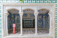 The cave of baths, Water Grotto, Gruta dos Banhos, Central Courtyard, Sintra National Palace, Palacio Nacional de Sintra, Town Palace, Palacio da Vila...