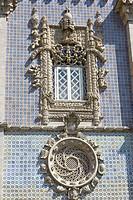 The Arches Yard, Palacio Nacional da Pena, Sintra Cascais Natural Park, Grande Lisboa, Lisbon Region, Portugal.