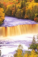 Waterfall in Autumn, Michigan