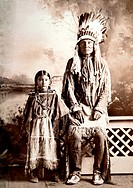 Northern Cheyenne Chief Daughter, Albumen Photograph, Circa 1880