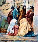 Wailing Wall, Jerusalem, Trade Card, Circa 1893