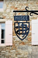 Sign of the museum of the Saint_Antoine monastery, France, Europe