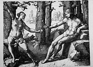 Adam and Eve, Copperplate Engraving