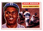 Jackie Robinson, Brooklyn Dodgers 1919_1972, Trade Card, 1946