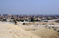 Cairo cityscape from point near Sphinx.