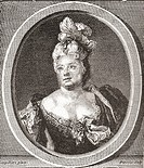 Marianne Duclos de Chateauneuf, 1664 - 1747  French comedienne  From Les Heures Libres published 1908