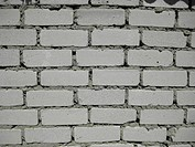 Wall from a white brick
