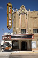 Historic Fox Theater in downtown North Platte, Nebraska